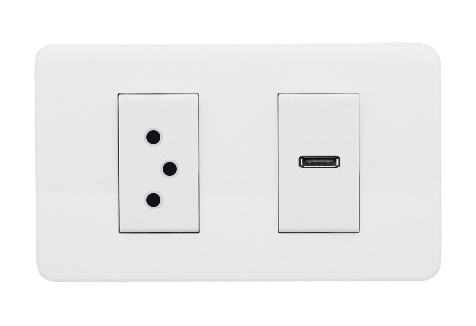 瑞士插+USB插C2
