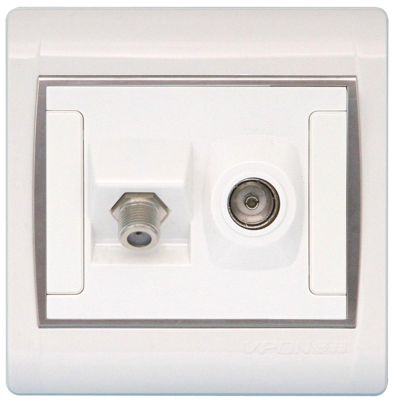 电视电缆连接+天线插座